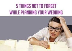 5 Things NOT to forget when planning