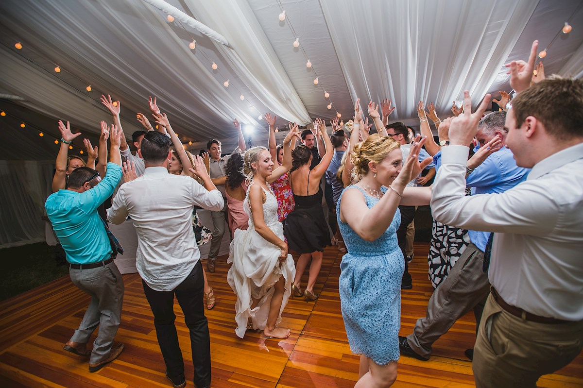 Dancing the night away Arpeggio Wedding Entertainment RI DJ